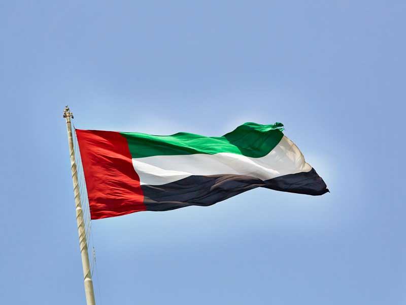 The United Arab Emirates flag