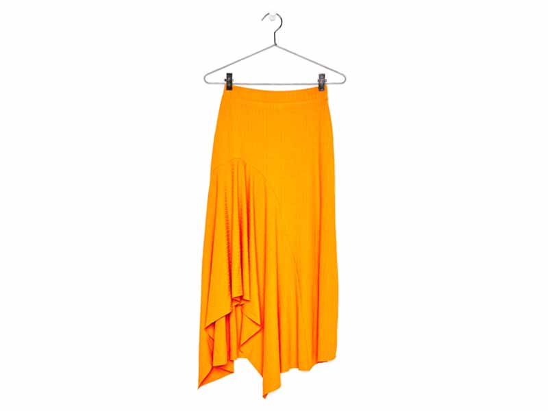 Yellow skirt by Bershka Dubai, available at Mall of the Emirates and Majid Al Futtaim City Centres