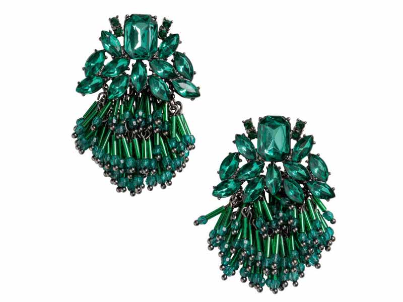 Emerald Green Earrings from H&M Sharjah