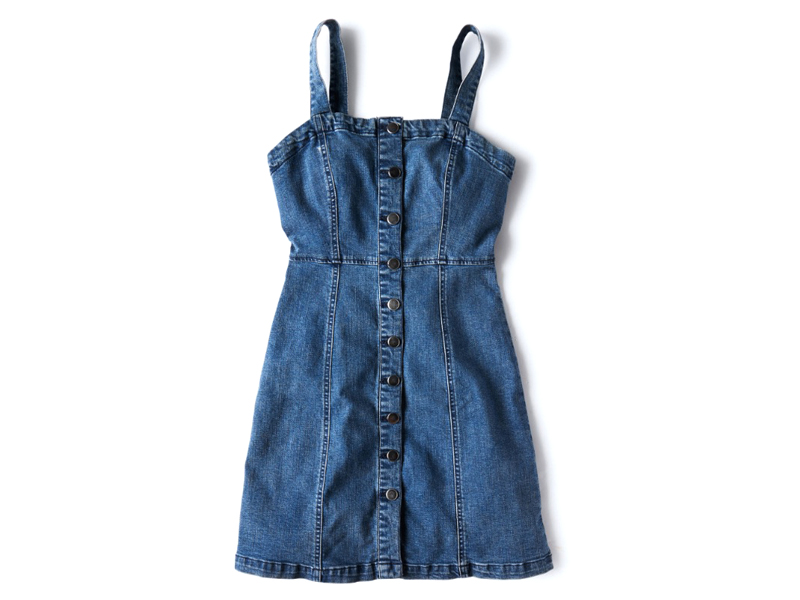 Denim pinafore dress, AED260, Aéropostale, visit City Centre Sharjah